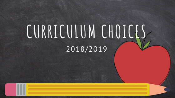 2018/2019 Curriculum Choices and Plans